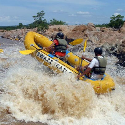 Adventure activities - white water rafting with Swazi Trails